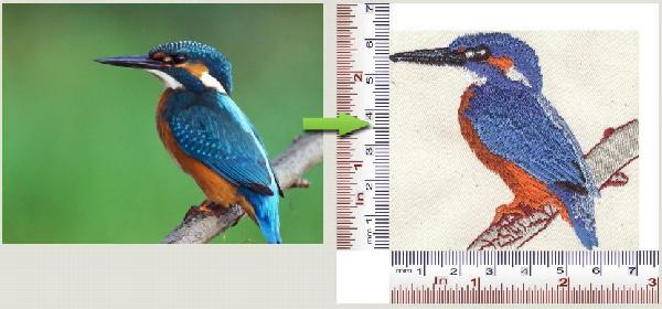 Embroidered logo 8000 stitches