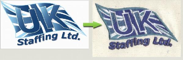 Embroidered logo 15000 stitches